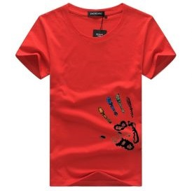Men's Palm Printed Cotton T-Shirt